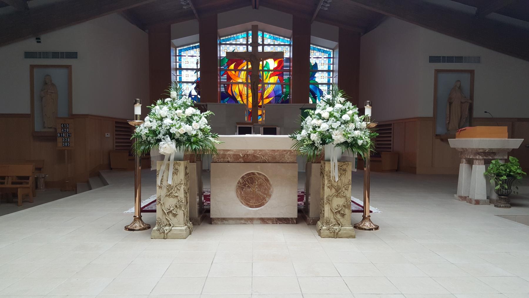 ivory church pedestals